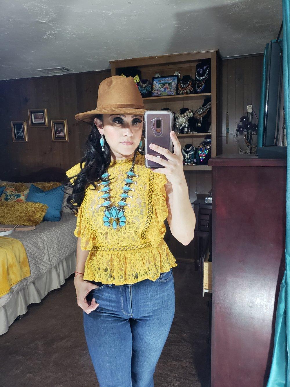 Image of Hello Sunshine Lace Blouse