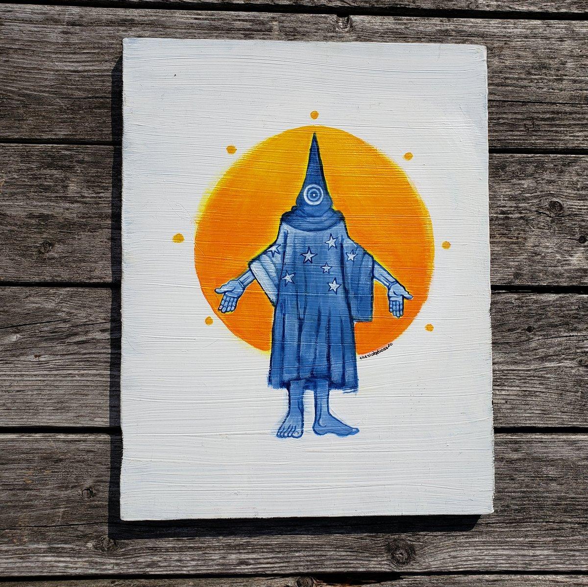 Image of Abu Ghraib in blue