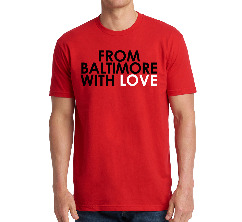 Image of From Baltimore With Love SS T-shirt - Red