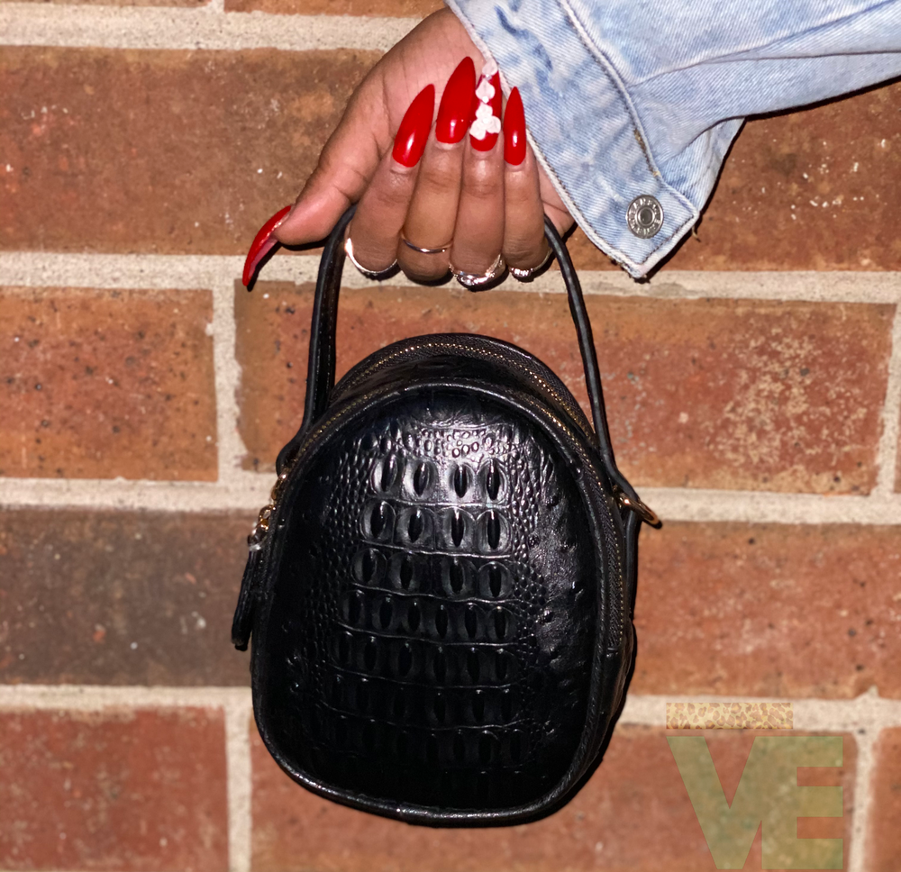 Image of Croc Pattern Handbag