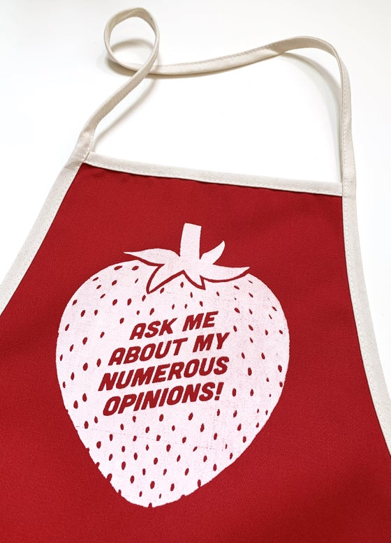 Image of Apron-Ask me About my Numerous Opinions