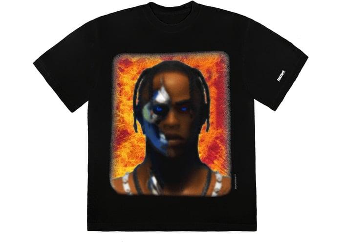Image of Travis Scott T-3500 Portrait T-Shirt Sz XL