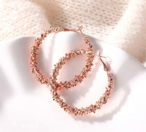Image of Large Chunky textured hoops
