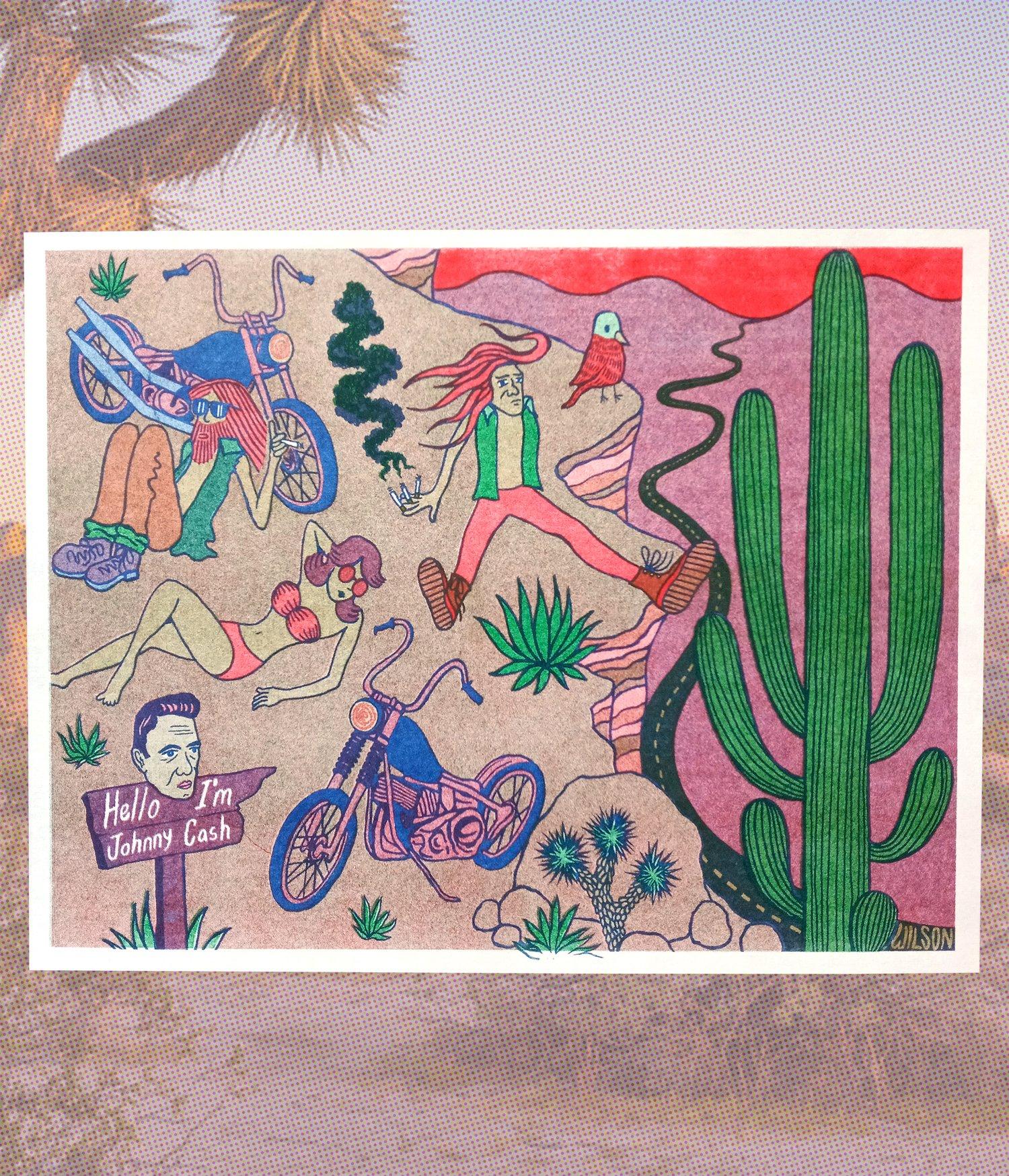 """""""Desert Roadtrip"""" riso print"""