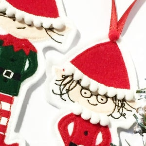 Image of Personalised Elf Decorations