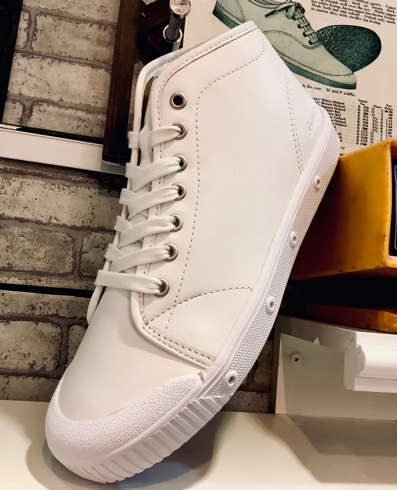 Image of Spring court B2 mid top white nappa sneaker shoes