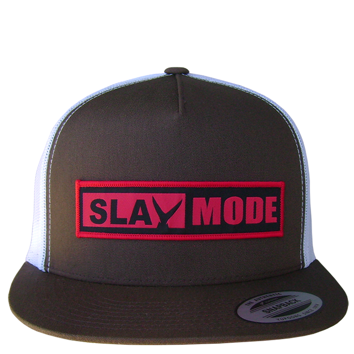 Image of Slay Mode Trucker (chocolate/white)