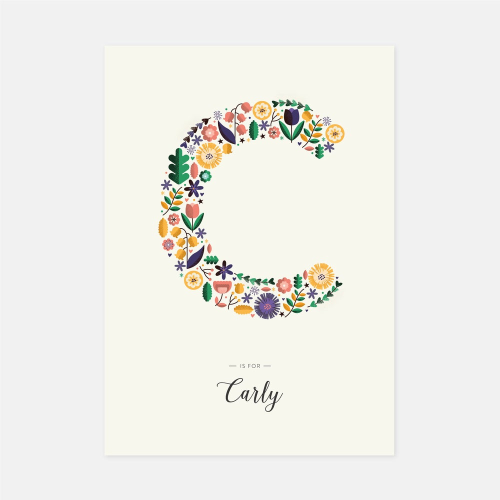 Image of A-Z Personalised Letter Print (Cream)