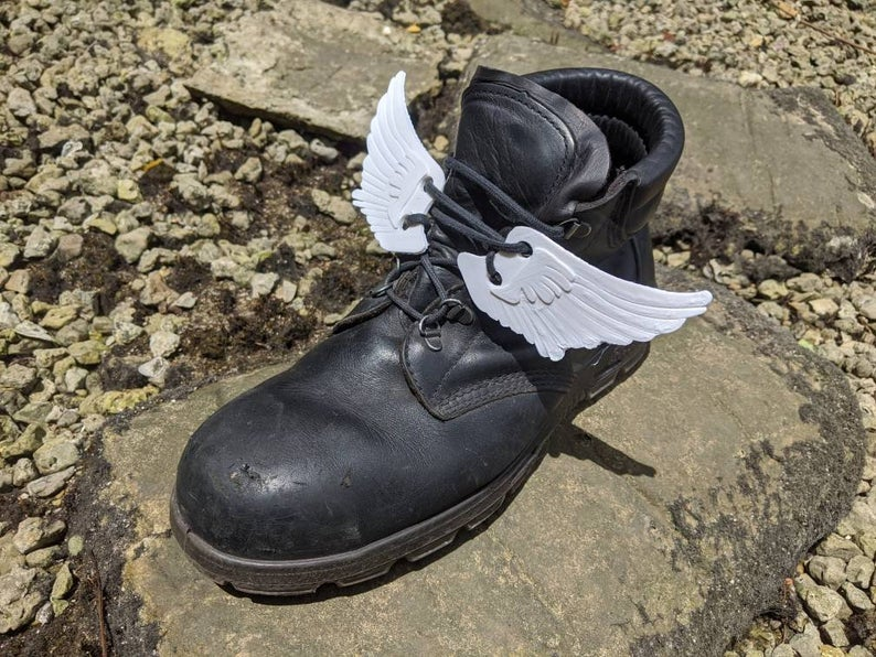 Image of 2 Pairs Angel Wing Shoe Charms