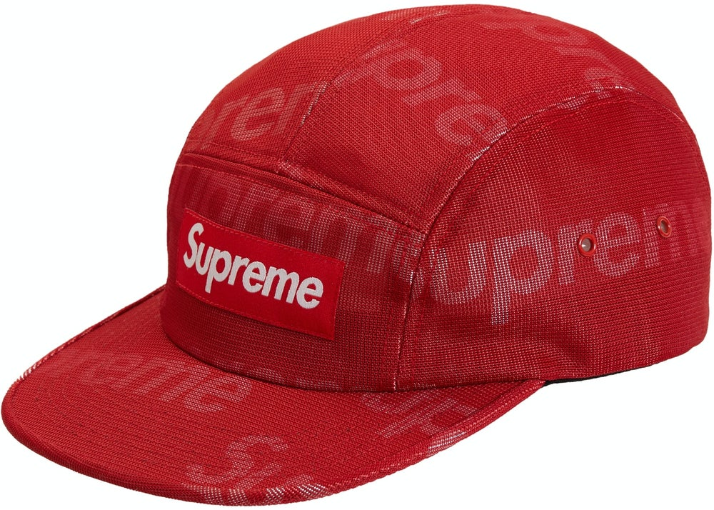 Image of Supreme Lenticular Logo Camp Cap Red