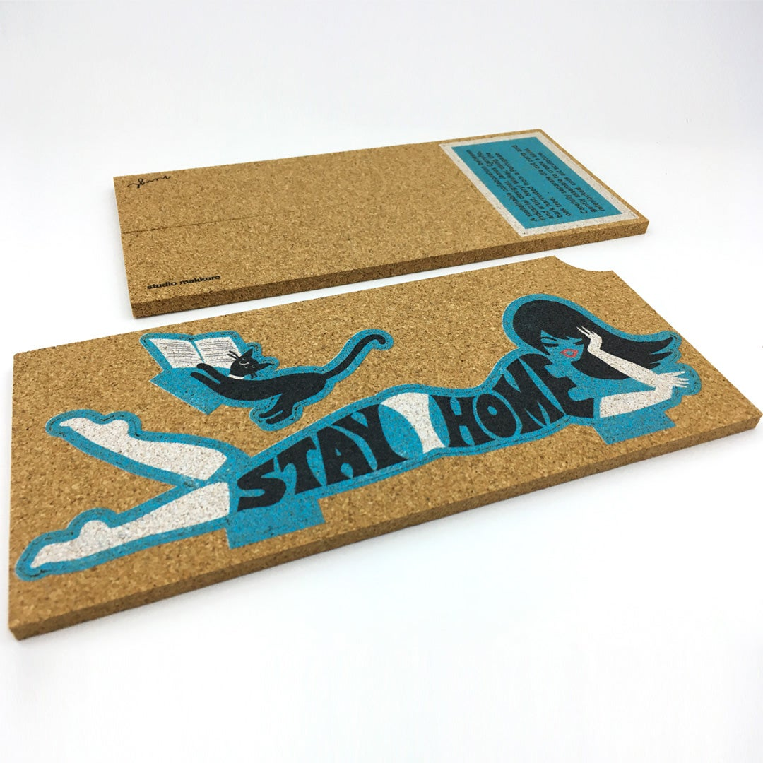 Image of 3D cork design Stay Home collab with Neryl Walker (VIC)