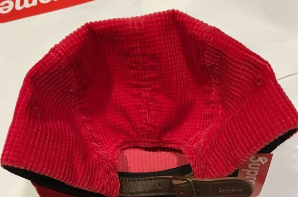 Image of Supreme Waffle Corduroy Camp Cap Red