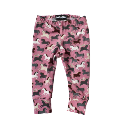 Image of Wild Horses Pink Leggings and Hat Set