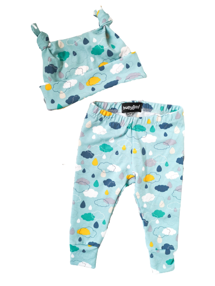 Image of Happy Clouds Hat and Leggings set