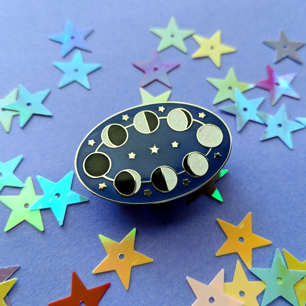 Image of Moon Phases Enamel Pin - Limited Edition