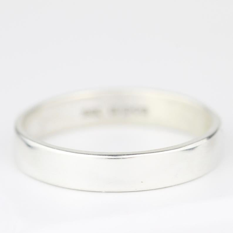 Image of Handmade silver ring 4mm wide (shiny)