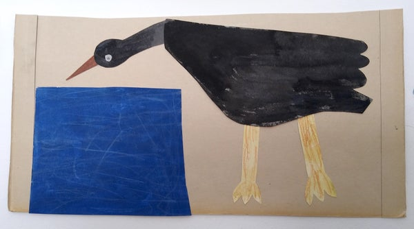 Image of Water bird -black