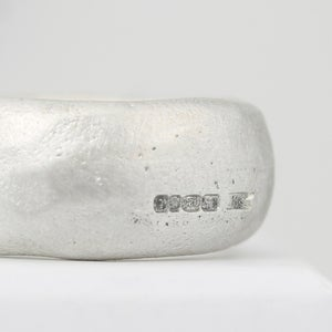Image of chunky organic ring in silver