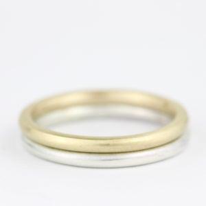 Image of handmade ring with soft brushed finish (round profile 2mm)