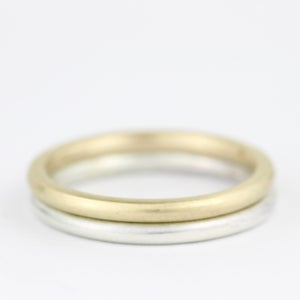Image of handmade ring with soft brushed finish (round profile 2mm)