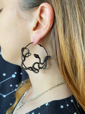 Image of Slither statement hoop earrings