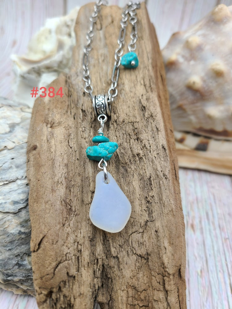 Image of Sea Glass- Turquoise- Necklace # 384