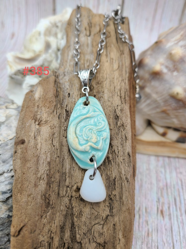 Image of Sea Glass- Mermaid- Necklace- #385