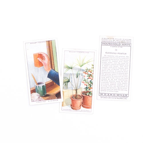 Image of Household Hints Cigarette Cards - Set of 8