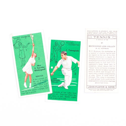 Image of Tennis Cigarette Cards - Set of 8