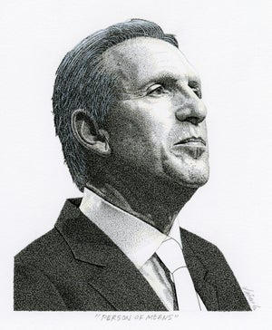 Image of HOWARD SCHULTZ ink original