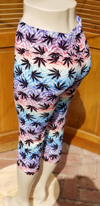 Image of Rainbow Cannabis Leggings