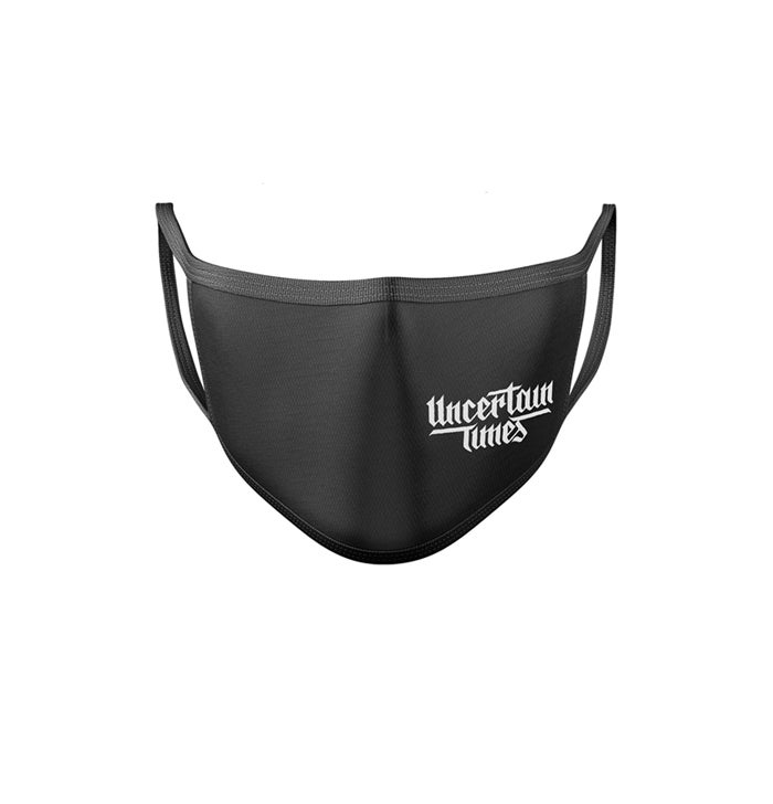 Image of UNCERTAIN TIMES FACE MASK - BLACK