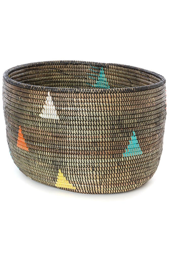 Image of Teranga Triangles Knitting Basket