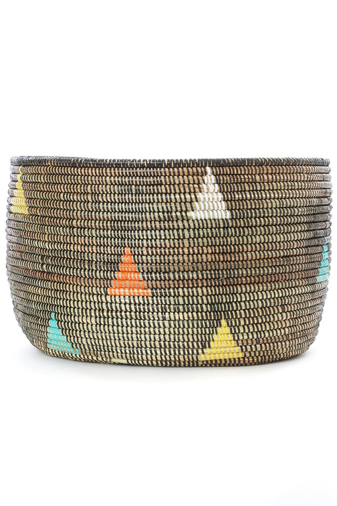 Image of Teranga Triangles Knitting Basket