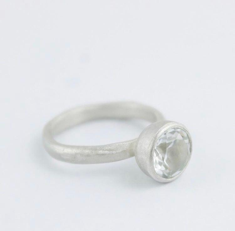 Image of White topaz ring