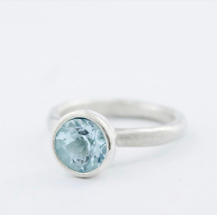 Image of Sky blue topaz ring