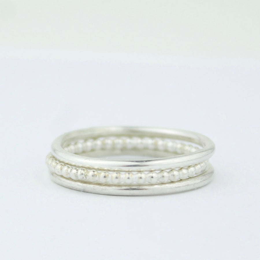 Image of Teeny rings stacking set of three
