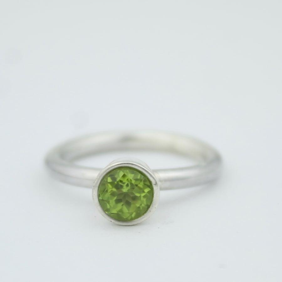 Image of Peridot ring