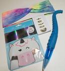 Image 2 of Rainbow Tie-Die Headband & Unicorn Mask Bundle