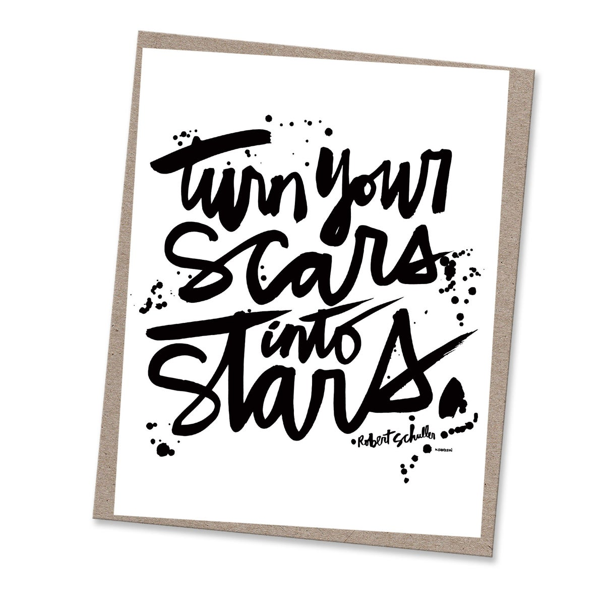Image of SCARS INTO STARS #kbscript print