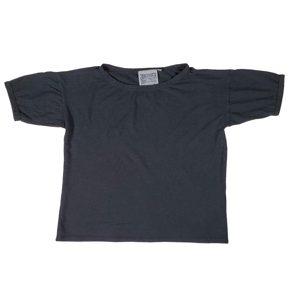 Image of Jungmaven Boxy Tee - Washed Black