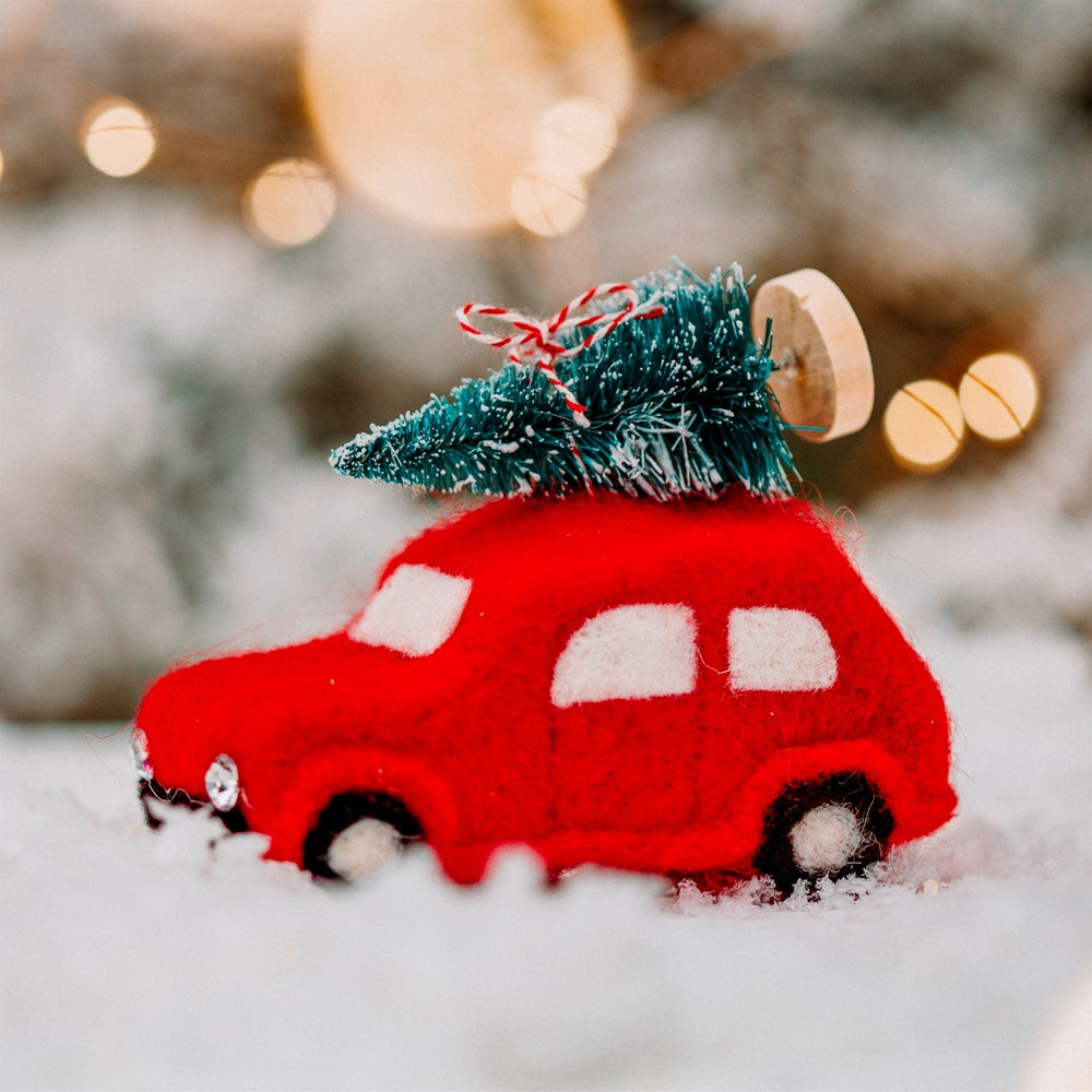 Image of 'Driving Home for Christmas' Felt Car - Sass & Belle