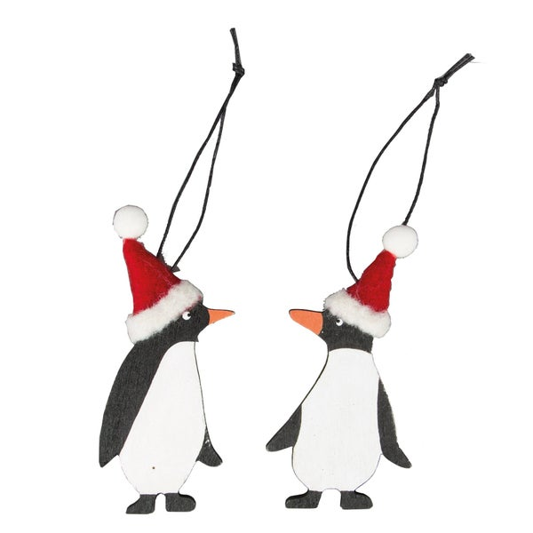 Image of Set of 2 Christmas Penguins - Sass & Belle