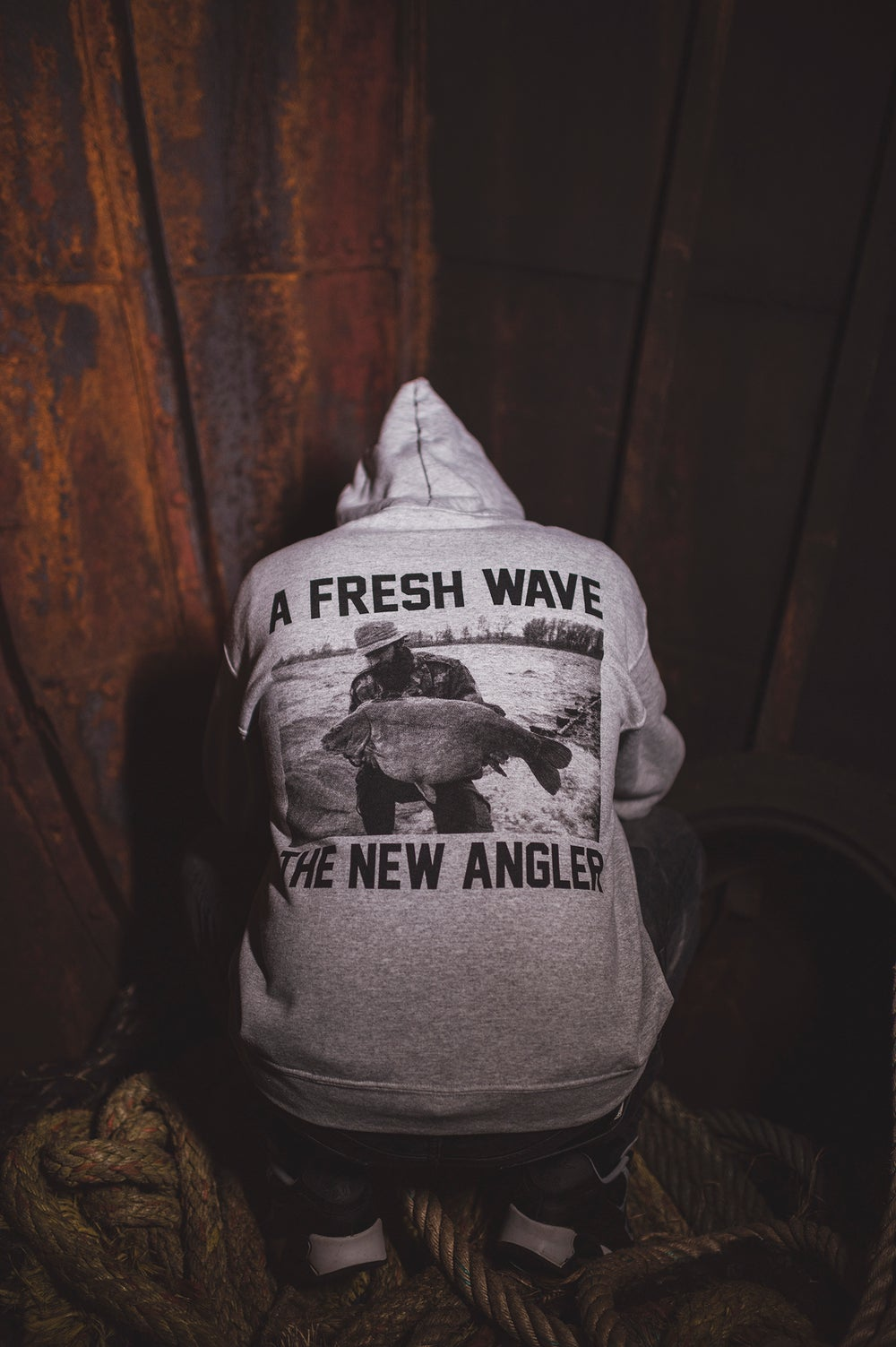 Image of Monkey Climber Fresh Wave hoodie I Heather Grey