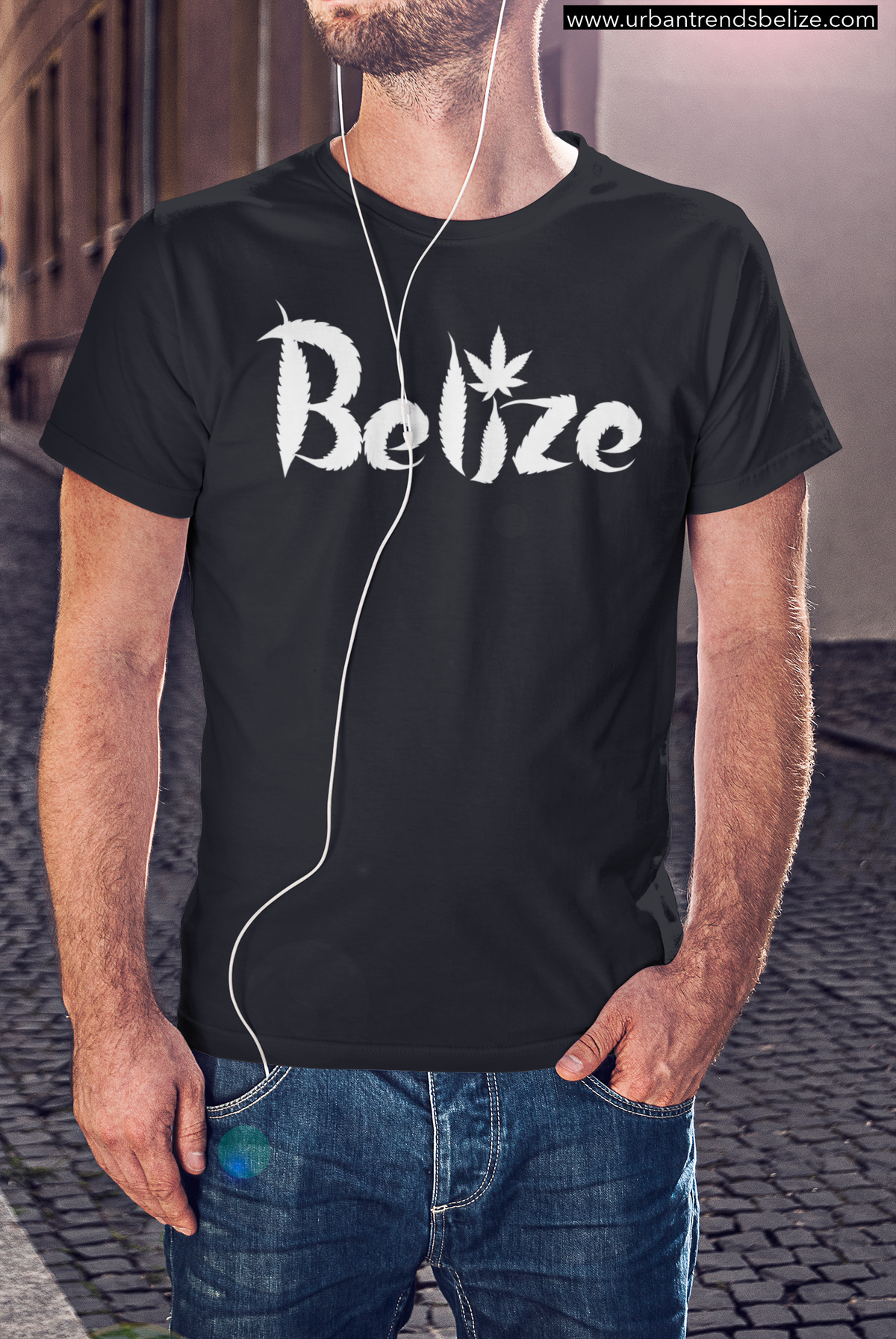 Image of BELIZE GANJA LEAF T-SHIRT