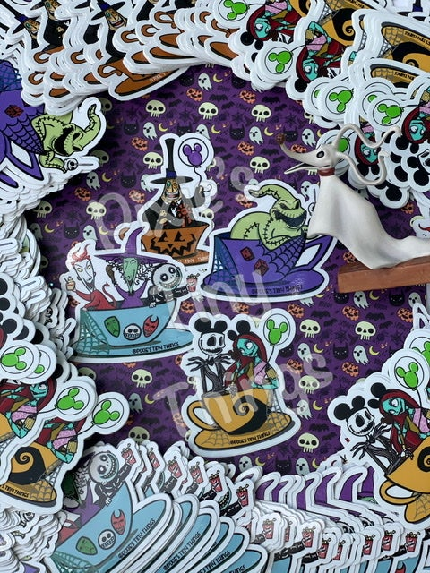 Image of Characters in Teacups- Stickers