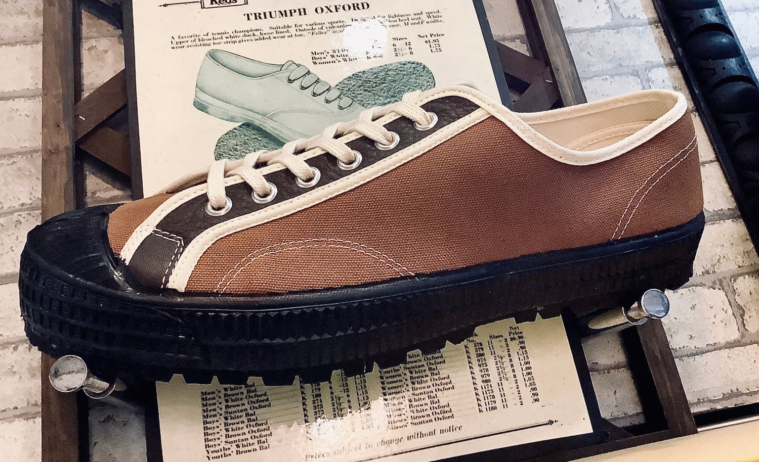Image of VEGANCRAFT vintage hiker lo top sneaker shoes made in Slovakia