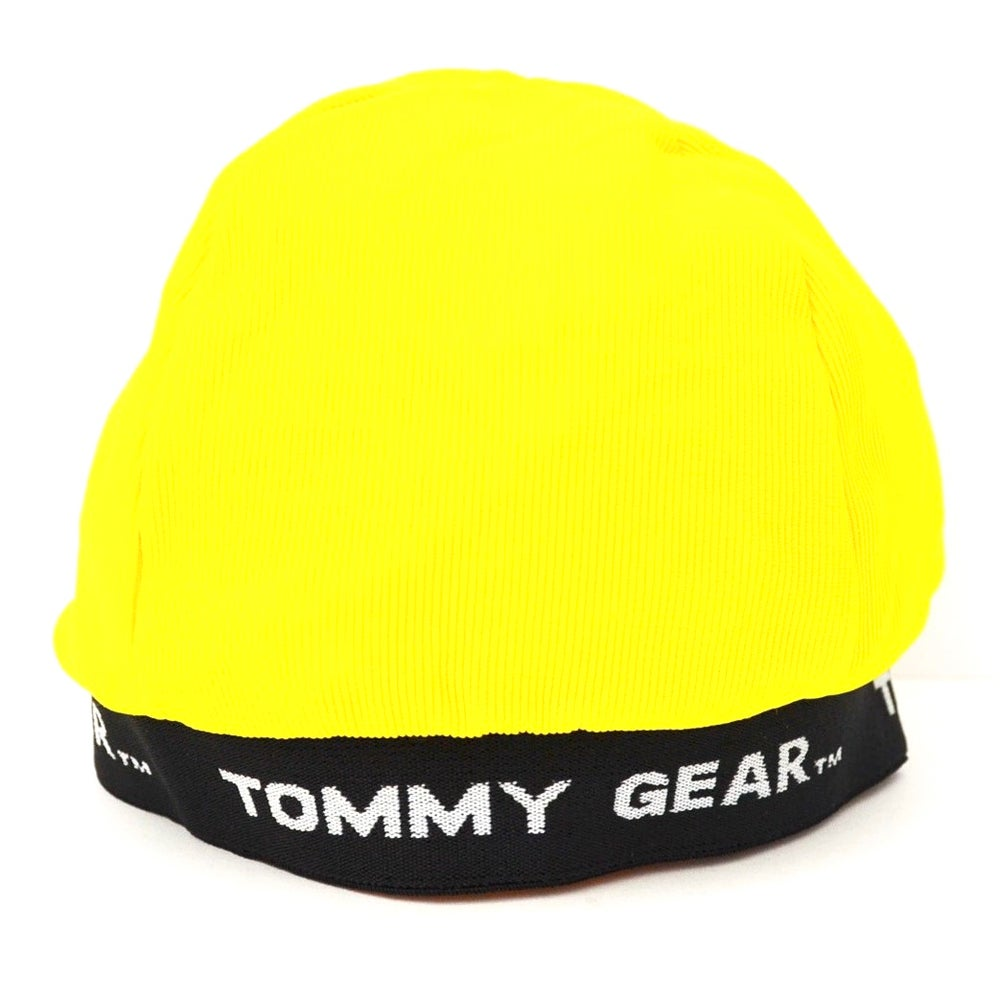 Image of Vintage 1990's Tommy Gear Yellow Spandex Skull Cap