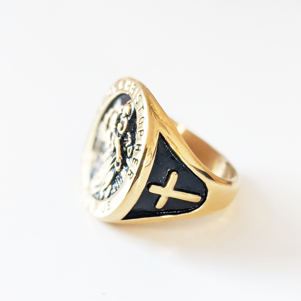Image of Saint Christopher Sovereign Ring