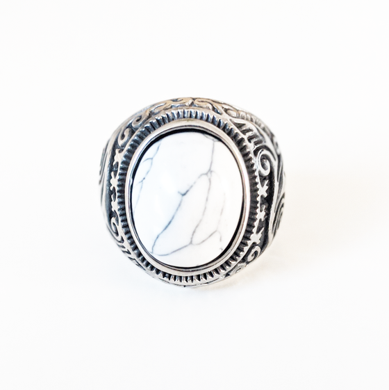 Image of White Turquoise Ring